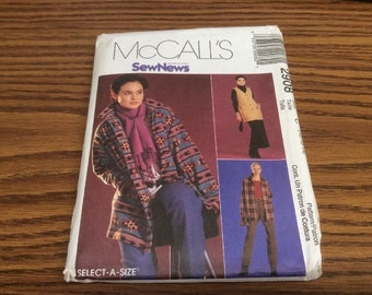 McCall's Sewing Pattern  2908 Jacket Pants Vest Size C 10-12-14 Uncut Pattern