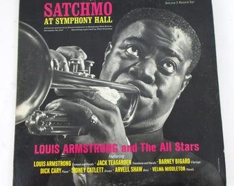 Louis Armstrong Satchmo at Symphony Hall 2 Vinyl LP Record Album MCA MCA2-4057