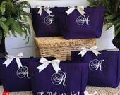 Bridal Party Tote Bags Monogrammed Embroidered | Bridesmaids Gifts | Tote Bag | Monogrammed | Bachelorette Party Gift | Wedding Bag | Brides