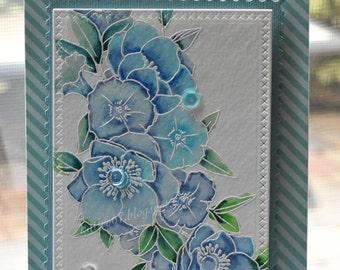 Blue Watercolor Card
