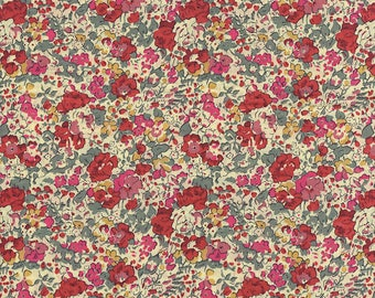 Liberty of London Claire Aude cherry fabric coupon