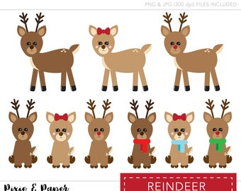 Clipart - Clip Art - Commercial Use Clipart - Commercial Use Clip Art - Reindeer Clipart - Reindeer Clipart - Christmas Clipart - Holiday