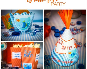 My little fish printable party