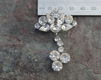 Vintage Diamanté Brooch
