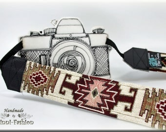 Camera strap, camerastrap, DSLR, natural red