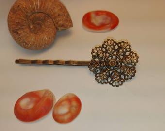 64 * 23mm wavy flower shape hair pins clips