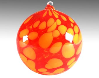 Firehouse Red, Blown Glass Ornament
