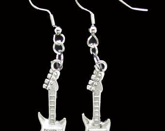 GUITAR EARRINGS - Music Lover, Guitar Player, Band Member - Great Gift Idea - Christmas Stocking Stuffer