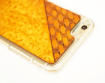 Leather Samsung Galaxy S9 Plus Case | Tan Basketweave