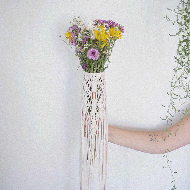 paloma / macrame bouquet wrap / boho wedding decor / macrame wedding ...