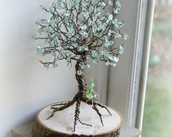 Mint fairy wire work rainbow fantasy tree magic believe sculpture