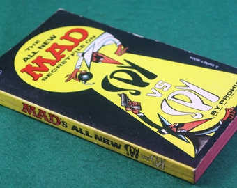 Vintage 1965 First printing - Signet The All New MAD Secret File on Spy vs Spy  by Prohias Paperback Free Shipping