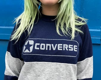 Vintage Converse sweatshirt with bar stripe