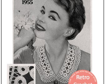 1950s Collar Vintage Crochet Pattern - PDF Instant Download