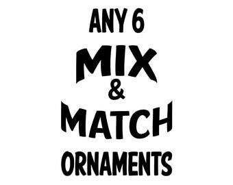 6 Mix & Match Rusty Metal Ornament Assortment
