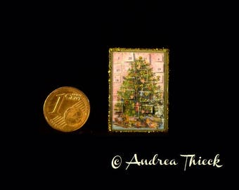 Miniature Advent Calendar 1/12 scale