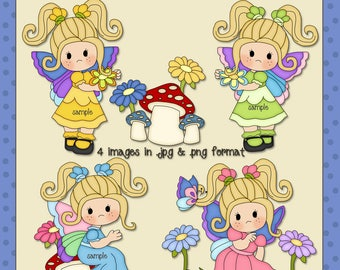 Butterfly Girls Blonde Hair