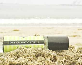 AMBER PATCHOULI roll on perfume // Birthday Gift // A deep rich blend of Amber and Patchouli / premium perfume / great for men and women