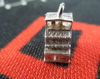 Sterling Cash Register Charm Vintage Cash Register Charm Sterling Silver Charm for Bracelet from Charmhuntress 04715