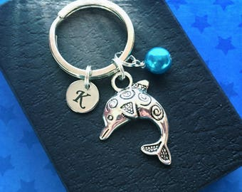 Dolphin keyring - Initial keychain - Personalised gift - Dolphin keychain - Scuba diving gift - Gift for diver - Dolphin gift - Etsy UK