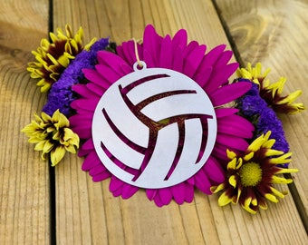 Love Volleyball Sports Christmas Ornament Athlete Team Gift Coach Custom Engraving Gift for Her Him Volley Spike Champions Girl Sport School
