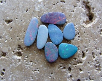 Natural Opal Doublets 7 loose stones