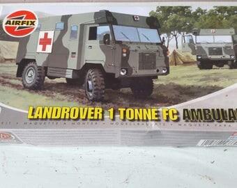 Vintage Airfix Military Landrover 1 Tonne Abulance Model Kit