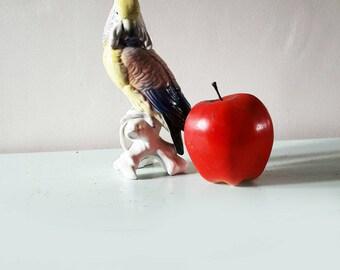 Stunning Vintage Karl Ens German Hard Paste Porcelain Parrot