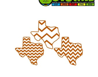 Texas Chevron Pattern Football SVG DXF Vector File Silhouette File for Cricut Texas State Outline Texas State Cricut Design Space