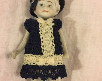 "Antique bisque 5"" doll"