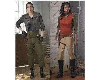 8480, Simplicity, Women's, Star Wars, Warrior costume, Rogue Warrior,  top styles, pants, vest, holster, Cosplay, Costume, Dress Up,