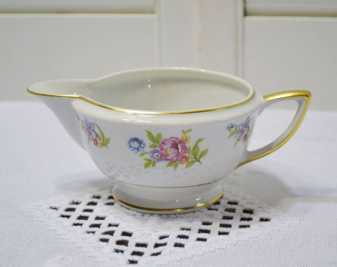 Vintage Royal Jackson Featherweight Creamer Floral Vintage China Made in USA Replacement PanchosPorch