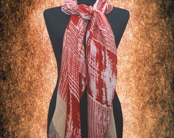 Women Vintage Geometric Cotton blend Scarf Muffler Free size