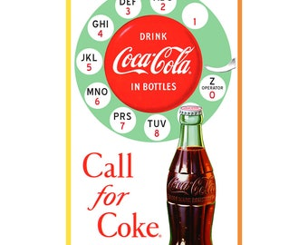Coca-Cola Rotary Phone Call for Coke Wall Decal # 158539