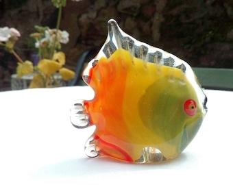 Murano Small Glass Cute  Vintage Fish