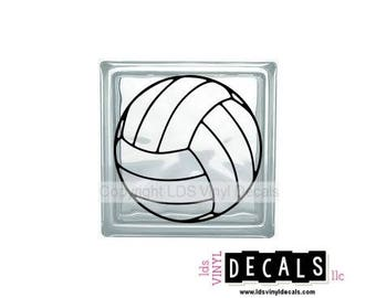 Volleyball - Sports and Athlete Vinyl Lettering for Glass Blocks