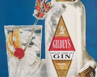 1968 Gilbey's Gin ad.