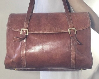Giani Benini Brown Leather Briefcase