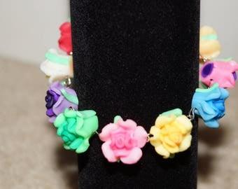 Polymer Clay Flower Bracelet