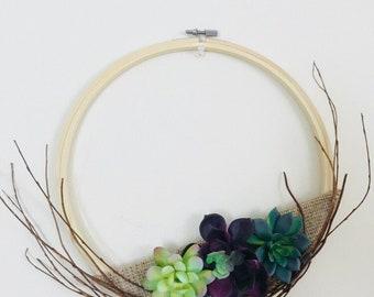 Minimalist Succulent Wreath