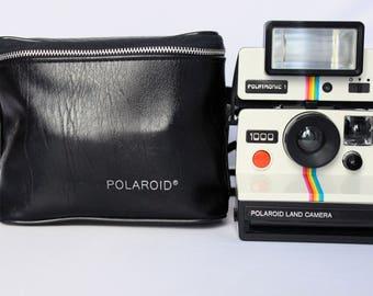 Polaroid 1000 Land Camera + Polatronic 1 Flash + Original POLAROID transport bag