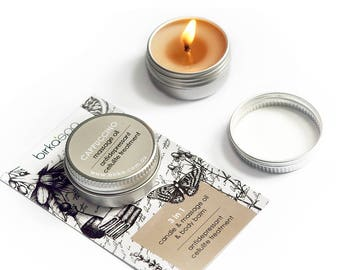 Cappuccino Massage Oil Candle - Candle - Massage - Massage Oil - Vegan - Natural Cosmetics - Coffee - Cellulite Treatment - Antidepressant
