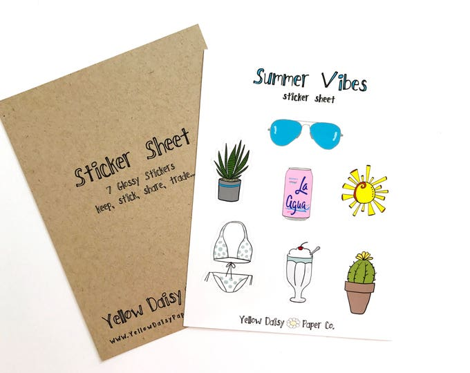 Featured listing image: Summer Vibes Sticker Sheet