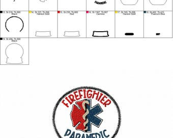 Firefighter - Paramedic - Christmas - Snow Globe - Ornament -  In The Hoop - DIGITAL Embroidery DESIGN