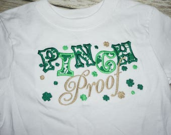 "Child's St. Patrick's Day T-Shirt ""Pinch Proof"""