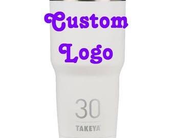 Takeya 30oz Insulated Thermo Tumbler - White with CUSTOM logo