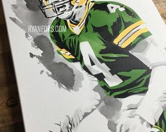 Brett Favre Packers Painting