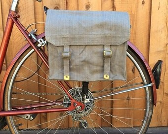 25% OFF British Military Surplus M37 Haversack Vintage Bicycle Pannier 1950's