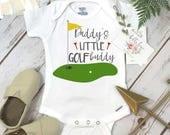 Golf Onesie®, Daddy's Little Golf Buddy, Baby Shower Gift, Golf Baby shirt, Golfing Buddy, Golf with Daddy Shirt, Golf Baby Reveal, Golf Set