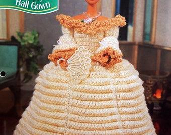 17th Century Ball Gown By Hazel Furst And Annie's Fashion Doll Crochet Club Vintage Crochet Pattern Pattern Leaflet 1995